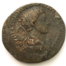 Roman Empire - Commodus, as Caesar (under Marcus Aurelius, 161-180 AD) Struck in Rome AD 175-176 AD/ Scarce, fine young portrait.