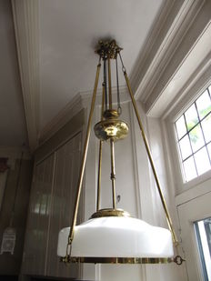 Special copper hanging lamp-adjustable in height