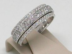 Exclusieve diamant spinning 'memory' ring 3,00 ct.