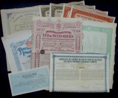 Brazilian Lot of 10 Stocks / Bonds 1911 - 1930