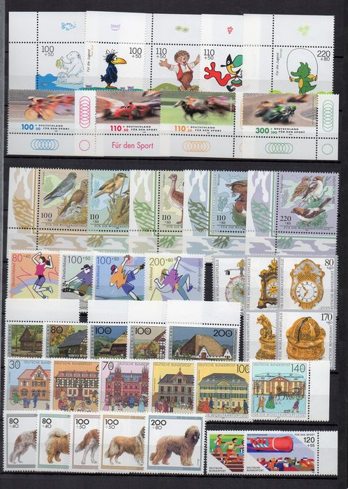 Federal Republic of Germany - Lot of 385 semi-postal complete sets