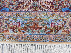 PERSIAN extra fine ESFAHAN carpet with a silk bottom
