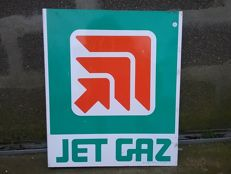 Enamel sign for JET GAZ