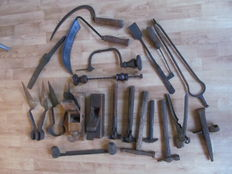 Large lot of 20 old tools