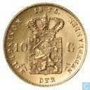 Muntset Gold Tenner 1875 with silver medal (copy)