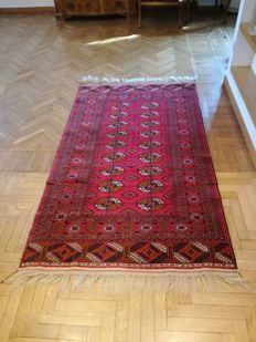Hand-knotted Oriental rug - Bukhara, 211x126 - Russia - 20th century