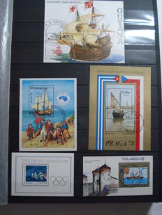 Thematic - Ships of the world, stamps and sheets