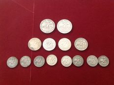 Portugal – 2$5 (8 coins), 5$ (4 coins) and 10$ (2 coins) – 1932 to 1955 – Lisbon