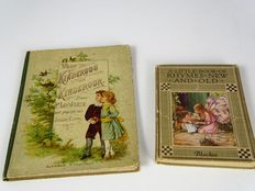 """Picture books; P. Louwerse - """"Voor kinderoog en kinderoor"""" and Cicely Mary Barker - """"A little book of rhymes new and old"""" - 1881 / 1937"""