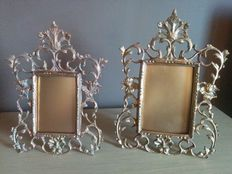 Pair of photo frames in bronze