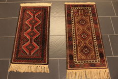 Two handmade Persian carpets – Belutsch – Size: 47 x 90 and 52 X 100 cm – Made in Iran