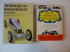 Twee Boeken over  American Pre War Car Racing - The Golden Age of the American Racing Car - 1966 en Great American Automobiles, Their Achievements in Competition - 1957.