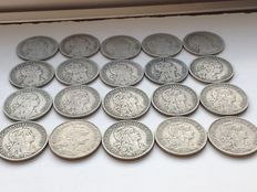 Portugal - 20 x 1 escudo coins - 1927 to 1968 - Lison
