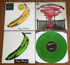 The Velvet Underground- lot of 3 lp's: The Velvet Underground & Nico (limited, numbered edition of 500 copies only!), Loaded & Unripened (on GREEN wax)