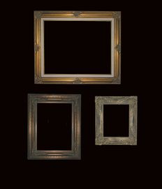 Three pieces -  ornate frames, late 20th century