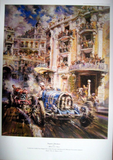 Decoratief object - Bugatti/Varzi - Alfa Romeo/Nuvolari - Monaco GP - 1933 (1 items)