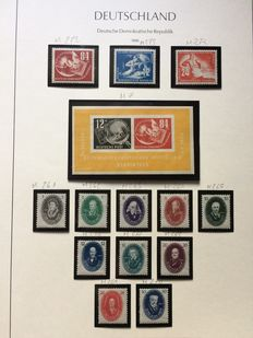 Germany 1949/1950 - selection of stamps - Michel 242/250, 256/259