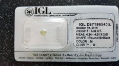 IGL Sealed Loose Round brilliant cut diamond of 0.32ct M I2 *No reserve***
