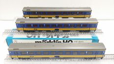 Märklin H0 - 4164/4165 - three coaches of the NS (Dutch Railways), 1st and 2nd class