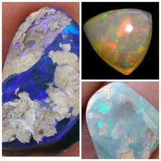 Lot of Opal - 9 to 16 mm - 6.75 ct (3)