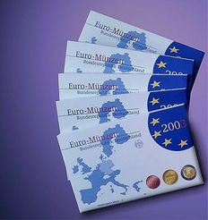 Germany – Euro sets 2003 A, D, F, G, J (5 pieces), complete