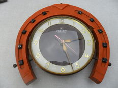 Falcon horseshoe clock - made in Germany - 1950s