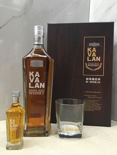Kavalan Single Malt Whisky Gift Pack with One Miniature and a Whisky Glass