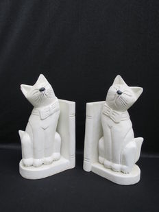 Wooden bookends, cats - 2nd half of 20th century