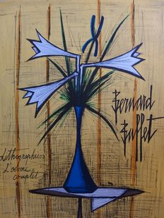 Bernard Buffet (after)- Bouquet de Lys