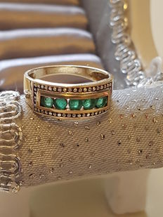 Emerald Ring of 0.75 ct.