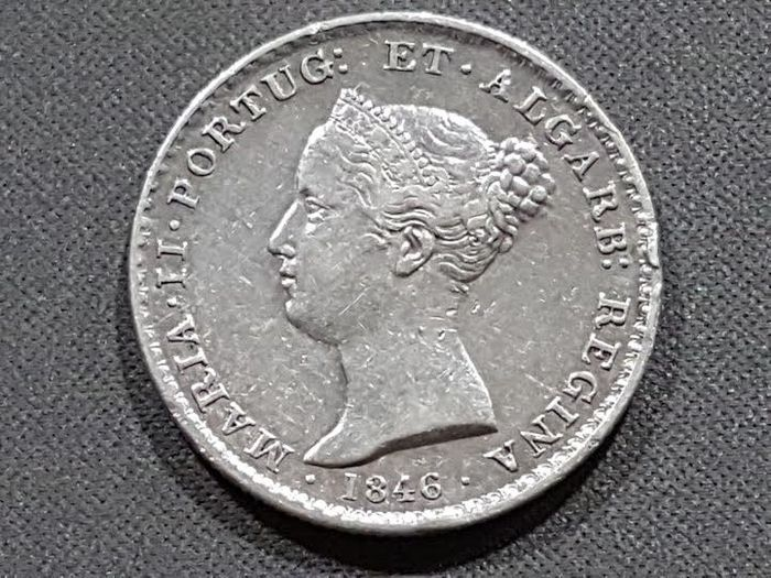 Portugal – 500 Silver Reis – Queen Maria II – Year 1846