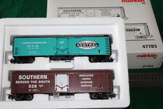 Märklin H0 - 47785 - Set of box wagons of American railways