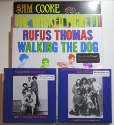 Rufus Thomas / Wilson Pickett / Sam Cooke / The Meters / Larry Graham: Great FUNKY SOUL Lot: 3LP's and 2 limited, numbered 7inch singles....