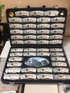 43 Presidential Lock Blade Knife Set with case