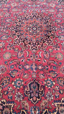 Beautiful hand knotted Persian Mashad carpet  – 367 x 240 cm