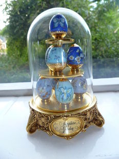 House of Faberge Franklin Mint Sapphire Garden Eggs Limited Edition Eggs