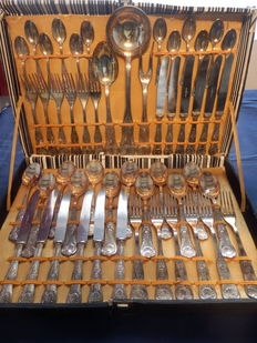 12 piece silver plated cutlery cassette