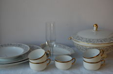 Rosenthal - Partial Aida tableware set and 5 antique cups