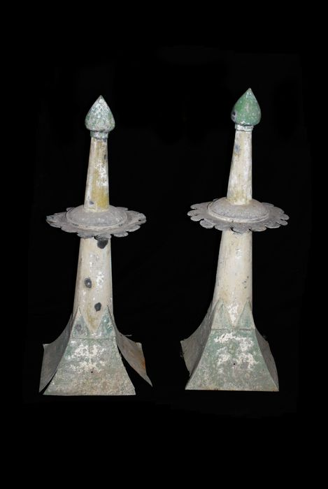 Pair of  zinc rooftops - Belgium - second half 19th century