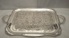 Viners of Sheffield, 1925, Chased Heavy Silver plated Tray, Made in Sheffield, England