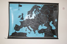 "Old ""blind"" school map/school poster Central Europe"