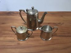 Silver plated Art Deco coffee set