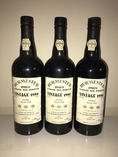 1994 Vintage Port - Burmester - Extra Selected - 3 flessen 0,75l