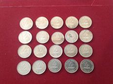 Portugal - 20 x 4-centavos coins, 1917 to 1919, Lisbon.