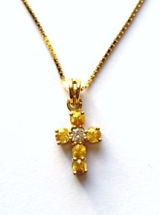 Cross in 18 kt gold