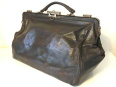Antique leather doctor bag