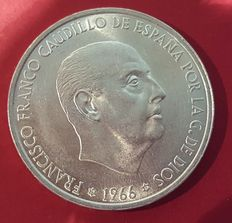 Spain - Francisco Franco - Complete collection of 100 pesetas coins, and other varied coins - Coins from different time period and coined at different Mints.
