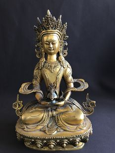 Bronze Amitayus - Tibet/Nepal - end 20th century.