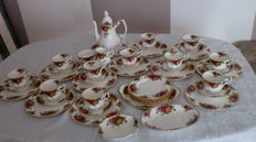 Royal Albert Bone China England, Old Country Roses, Kaffeeservice, 45 Teile