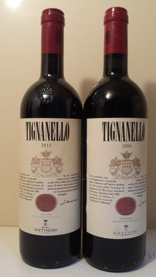 2006 & 2013 Tignanello Antinori, Supertuscan – 2 bottles